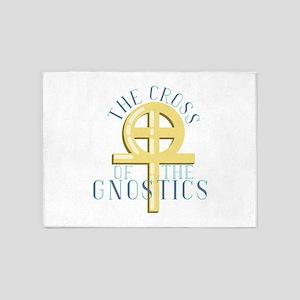 Cross Of Gnostics 5'x7'Area Rug