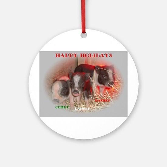 Potbelly Pig Ornament (Round)
