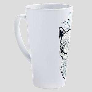 Awesome Vintage Tattooed Chihuahua 17 oz Latte Mug