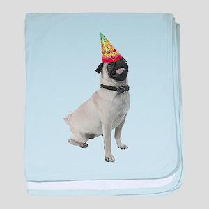 Pug Birthday baby blanket