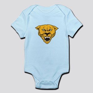 Angry Cougar Mountain Lion Head Drawing Body Suit