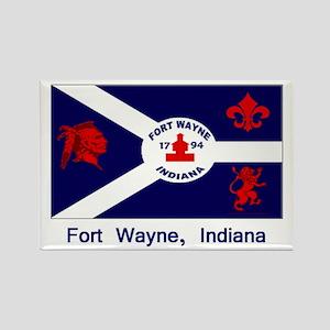 Fort Wayne IN Flag Rectangle Magnet