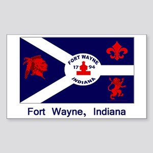 Fort Wayne IN Flag Rectangle Sticker