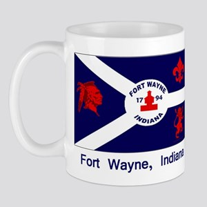 Fort Wayne IN Flag Mug