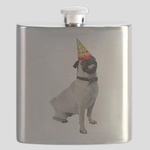 Pug Birthday Flask