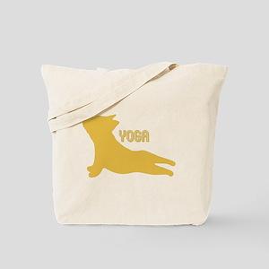 Bulldog Puppy Silhouette doing Yoga. Gift Tote Bag