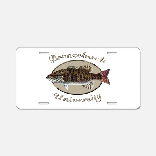 Bronzeback University Aluminum License Plate