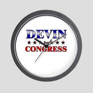 DEVIN for congress Wall Clock
