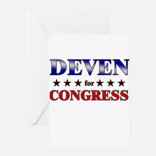 DEVEN for congress Greeting Card