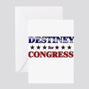 DESTINEY for congress Greeting Card