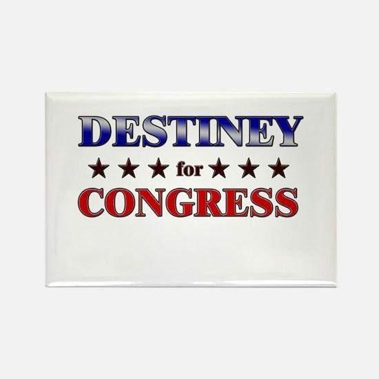 DESTINEY for congress Rectangle Magnet