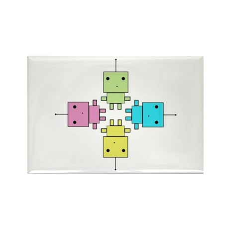 Robot Rectangle Magnet (100 pack)
