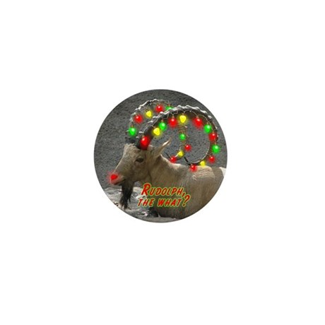 Helaine's Rudolph the What? Mini Button (10 pack)