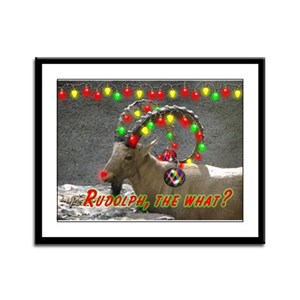 Helaine's Rudolph the What? Framed Panel Print