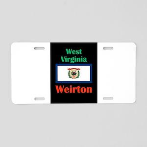 Weirton West Virginia Aluminum License Plate