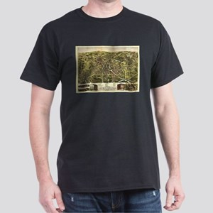 Vintage Pictorial Map of Taunton MA (1875) T-Shirt