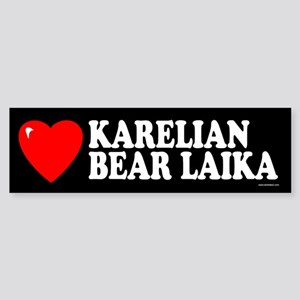 KARELIAN BEAR LAIKA Bumper Sticker