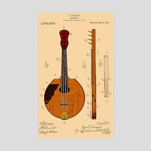 Mandolin Patent Rectangle Sticker
