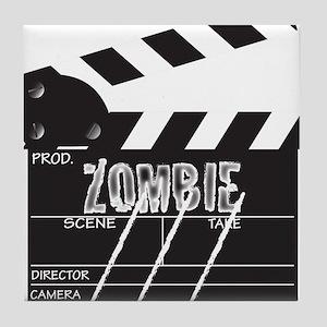 Clapper Board Zombie Tile Coaster