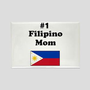 #1 Filipino Mom Rectangle Magnet