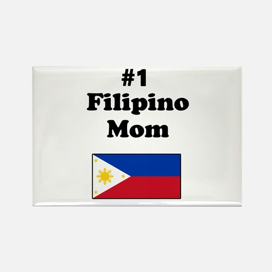 #1 Filipino Mom Rectangle Magnet