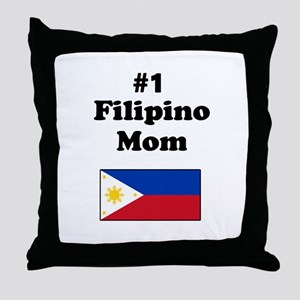 #1 Filipino Mom Throw Pillow