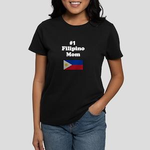#1 Filipino Mom Women's Dark T-Shirt