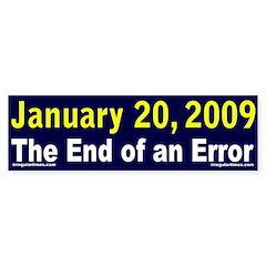 January 20, 2009 Bumper Bumper Sticker