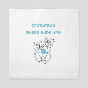 Bears Grandmas Sweet Baby Boy Queen Duvet