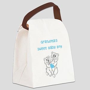 Bears Grandmas Sweet Baby Boy Canvas Lunch Bag