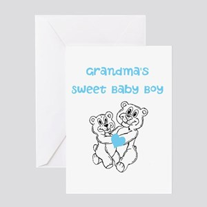Bears Grandmas Sweet Baby Boy Greeting Card