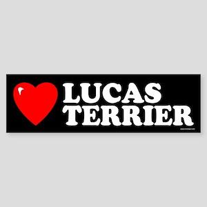 LUCAS TERRIER Bumper Sticker