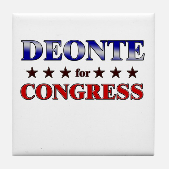 DEONTE for congress Tile Coaster