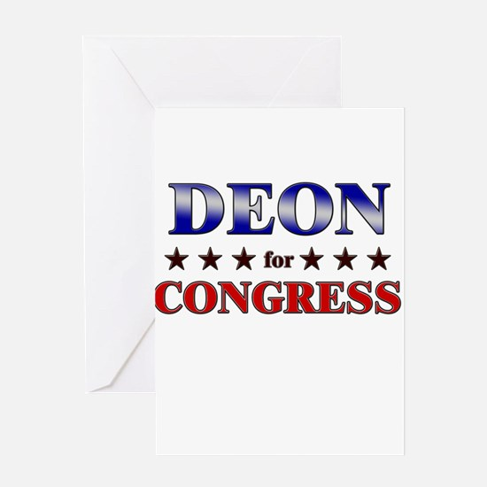 DEON for congress Greeting Card
