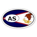 American Samoa Flag Oval Sticker