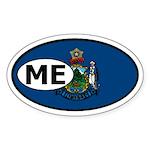 Maine State Flag Oval Sticker