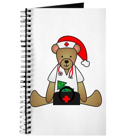 Christmas Nurse Bear Journal