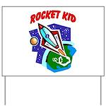 Rocket Kid Yard Sign