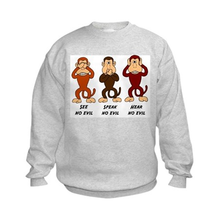 See Speak Hear No Evil Kids Sweatshirt
