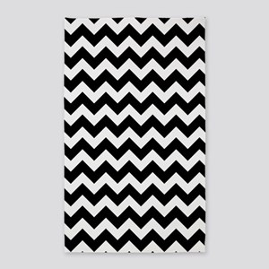 Black and White Chevron Pattern Area Rug