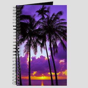 Purple Tropical Sunset 3 Journal