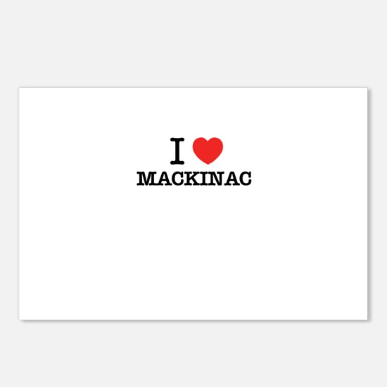 I Love MACKINAC Postcards (Package of 8)