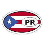 Puerto Rico Flag Oval Sticker
