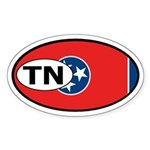 Tennessee State Flag Oval Sticker