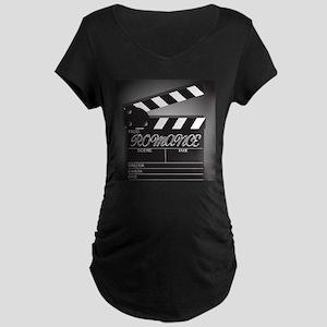 Clapper Board Romance Maternity T-Shirt