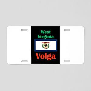 Volga West Virginia Aluminum License Plate