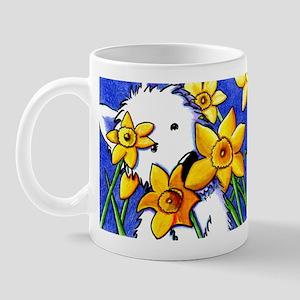 Westie Daffodils Mug