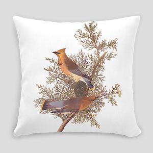 Cedar Waxwing Birds Everyday Pillow