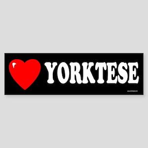 YORKTESE Bumper Sticker