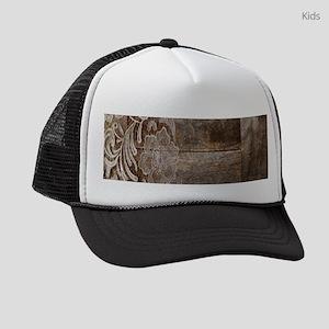barn wood lace western country Kids Trucker hat